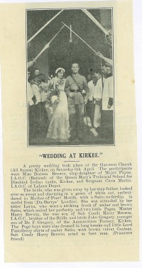 a lovely article was written when my grandparents got married